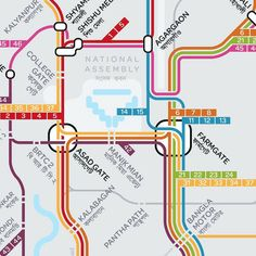 Map Design, Line Design, Graphic Design, Transport Map, Public Transport, Bus Map, Metro Map, U Bahn, Amman