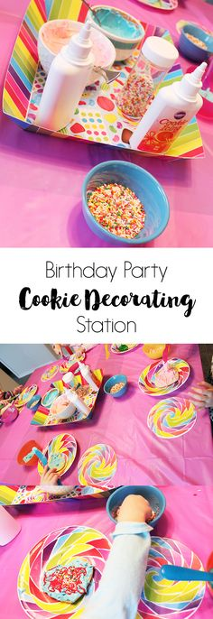 Birthday Party Cookie Decorating Station on www.girllovesglam.com