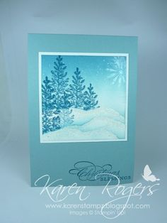 "Brayering, salt  snow **** SU ""Lovely as a Tree"", ""Snowswirled""  ""More Merry Messages"""