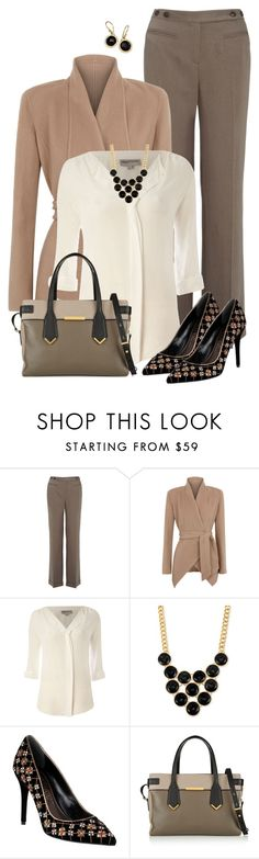 """Office Neutrals"" by kswirsding ❤ liked on Polyvore featuring Monsoon, Donna Karan, Mary Portas, Kenneth Cole, Alexander McQueen, Marc by Marc Jacobs and Ippolita"