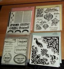 Close To My Heart Acrylic Words & Phrases Craft Stamps Birthday Cheers, Letter F, Close To My Heart, Stamp Sets, Scrapbook Pages, Envelope, Hearts, Words, Friends