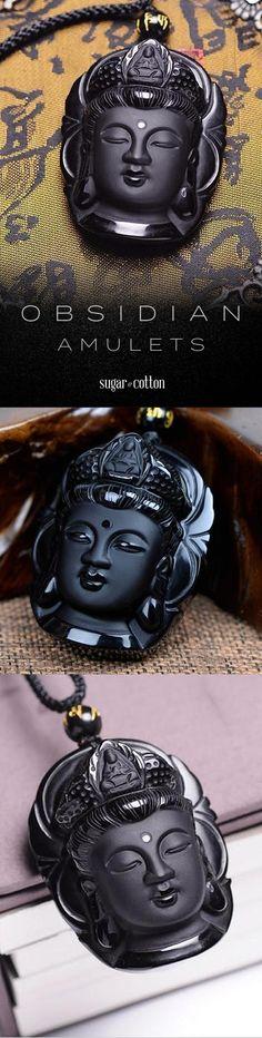Obsidian Buddha Amulets - only $26.95 USD! Tienda Esoterica, Jewelry Box, Jewelery, Jewelry Making, Jewelry Accessories, Amazing Gadgets, Clever Gadgets, Tech Gadgets, Rock