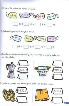 110 problemas de matematicas pdf primer grado Math Exercises, Math Skills, Math Activities, Euro, Coding, Teaching, Special Education, 5th Grade Math, First Grade Math