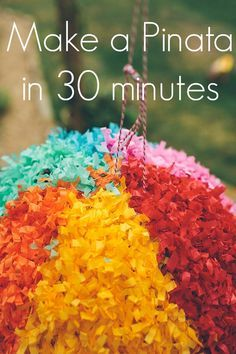 How to make a Giant Piñata in just 30 minutes! The piñata is the pièce de résistanceof any children's party. There are many piñata in the shops but in our hous