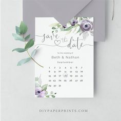 Save the date of your upcoming wedding with this beautiful lilac and purple floral design card. Wedding Save The Dates, Save The Date Cards, Lilac Wedding, Diy Wedding, Wedding Themes, Wedding Vendors, Calligraphy Save The Dates, Rose Gold Frame