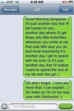 A girl can only wish to get this text from that someone special...... But I don't like Starbucks thou.  <3