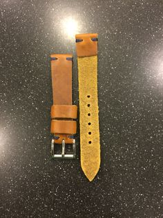 Custom Horween Leather Vintage Style Watch Strap.