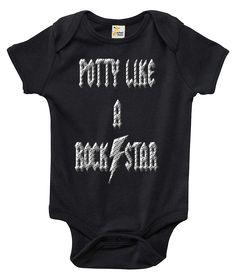 Potty Like a Rock Star One-piece Baby Bodysuit