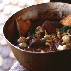 This Alsatian dish is a rich game stew, traditionally thickened with the blood of the animal. Our recipe uses flour for a lighter interpretation.