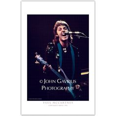 """Paul McCartney taken at the Cow Palace Arena in 1976. Show """"Macca"""" on stage with his band Wings on the """"Wings Over The World' Tour."""