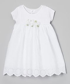 This Tesa Babe White Floral Eyelet Dress by Tesa Babe is perfect! #zulilyfinds
