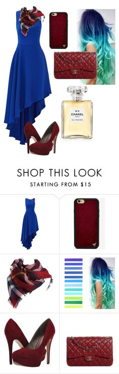 """Blue & Red"" by aria-marie-benavidez on Polyvore featuring beauty, Halston Heritage, Wildflower, Michael Antonio and Chanel"