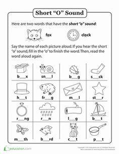 Short | Worksheets, Phonics and School