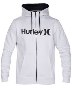 Add some classic Hurley style to your look with this comfy graphic-print hoodie.   Cotton   Machine washable   Imported   Attached hood with drawstrings    Zipper-front closure    Kangaroo pocket at f