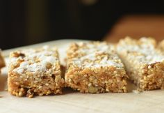 Quinoa Coconut Granola Bars - need to take out oats and use Almond Butter. Add more nuts and coconut for oats? Omit brown sugar.