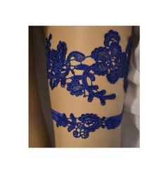 Royal Blue Garter Set Bridal Garters Wedding by SpecialTouchBridal