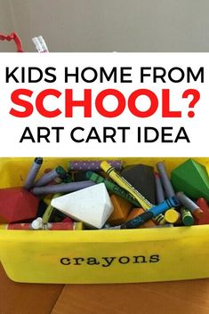 Our kids love arts and crafts, and at this age, they particularly love coloring and coloring books - however, the art supplies were totally taking over the hous… Kids Craft Supplies, Arts And Crafts Supplies, Crafts For Kids, Diy Crafts, Art Supplies, Peel And Stick Tile, Stick On Tiles, Rolling Craft Cart, Shaker Style Doors