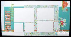 Lisa's Creative Corner: April Project Kit - Blossom Layout