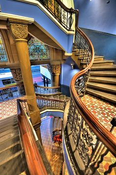 """...into a Victorian Escher experience on \""""The Grand Staircase* of Sydney's Grand Queen Victoria Building in Australia."""