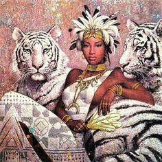 Untitled — kissmyblackazz: African Goddesses by Karl Bang Black Love Art, Black Girl Art, Art Girl, African American Art, African Art, Native American Indians, African Beauty, Black Art Pictures, Black Artwork