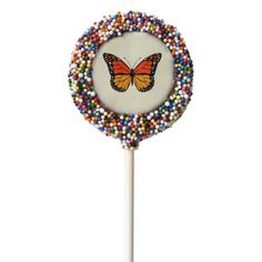 Monarch butterfly chocolate covered oreo pop - you deserve it! Tap/click for yours!