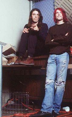 Dave Grohl and Kurt Cobain, Nirvana