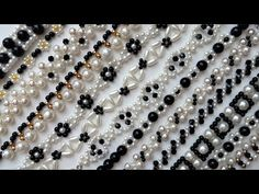 White and black jewelry design. How to make jewelry with beads.Beading patterns - YouTube