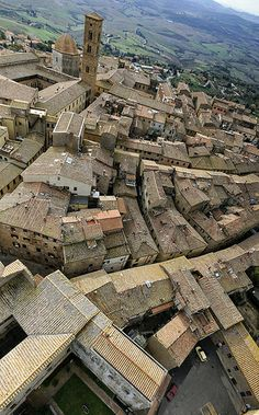 Volterra aerial view, Tuscany