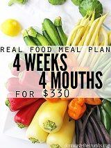 Frugal Real Food Meal Plan: October 2015