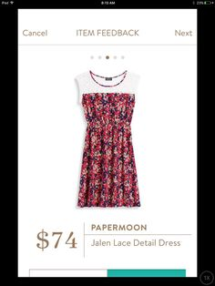 So pretty!!! Love the colours, shape. Papermoon Jalen Lace Detail Dress #stitchfix stitchfix.com/referral/8456951
