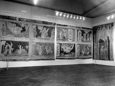 "The Metropolitan Museum of Art: ""French Tapestries,"" (November 22, 1947-February 29, 1948); View of Apocalypse series. Photographed in 1947. Image © The Metropolitan Museum of Art."