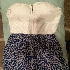 Charlotte Russe Floral short dress . Charlotte Russe Dresses Strapless
