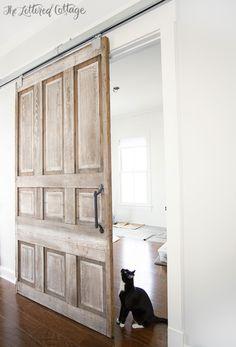 Sliding Barn Door Hardware | Old Library Pocket Door separate space in basement?