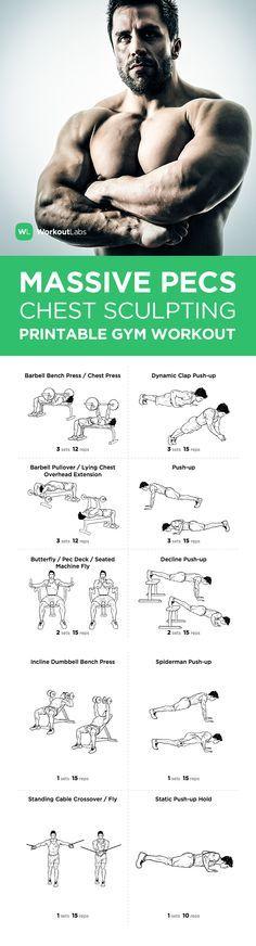 Visit http://WorkoutLabs.com/workout-plans/massive-pecs-chest-sculpting-workout-for-men/ for a FREE PDF of this Massive Pecs Chest Sculpting Workout for Men