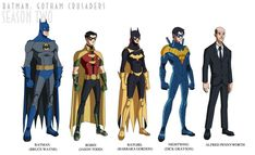 Batman: Gotham Crusaders - Season Two by phil-cho on DeviantArt Batgirl, Catwoman, Supergirl, I Am Batman, Batman Robin, Dc Animated Series, Nightwing Costumes, Troy Baker, Tim Drake Red Robin