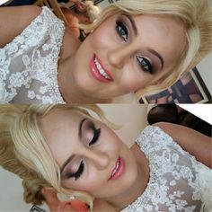 Peach & Coral bridal makeup