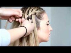 Como hacer una trenza en cascada - paso a paso - YouTube
