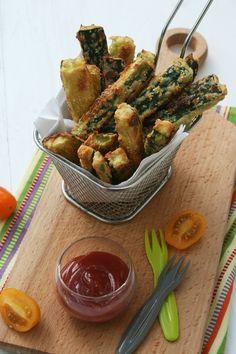Frites de courgettes au parmesan (sans huile au four)