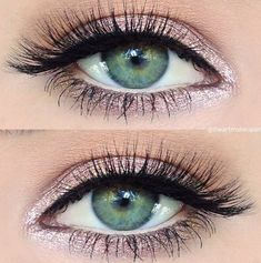 Pink eyeshadow.