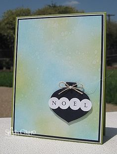 Christmas Card Challenges: Love the simplicity of the use of the SU ornament punch.