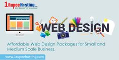 Affordable ‪#‎WebDesign‬ Packages for Small and Medium Scale Business. Moredetails:http://www.1rupeehosting.com/web-design.html