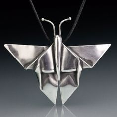 Origami in silver clay by Lesley Messam