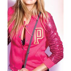 Victoria's Secret PINK Varsity Bling Jacket
