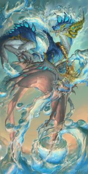 2016 Zodiac Dragons Aquarius by The-SixthLeafClover