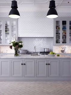 Kitchen Trends 2014, Blue Tea Kitchens; cabinets, countertop and tiles