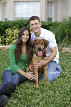 Do a photo shoot for a life changing event. This couple just bought their new house and got their first dog together. So adorable!