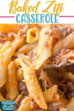 This easy baked ziti is a huge family favorite. Creamy, cheesy alfredo pasta topped with a beefy spaghetti sauce! Topped with melted cheese! Easy Soup Recipes, Casserole Recipes, Pasta Recipes, Beef Recipes, Dinner Recipes, Cooking Recipes, Recipies, Dinner Ideas, Beef Meals