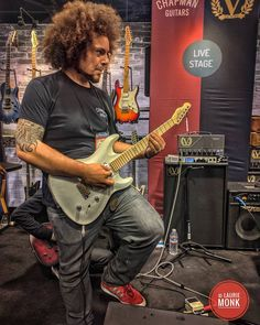 Rabea Massaad playing at the Chapman guitars booth #namm2017