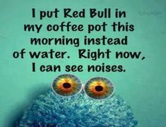 I put red bull in my coffee pot this morning