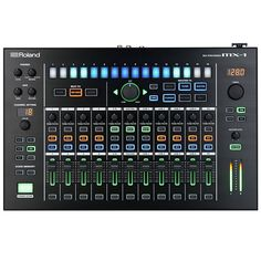 Roland Aira MX-1 Performance Mixer ~ 18 channel mixer with multichannel USB audio interface and 4 special USB ports for Aira Link enabled gadgets ~ sychronized effects ~ switchable operation modes to handle performance and studio needs ~ DAW conroller ~ stereo AUX, coax I/O, 6 analog in, midi I/O ports